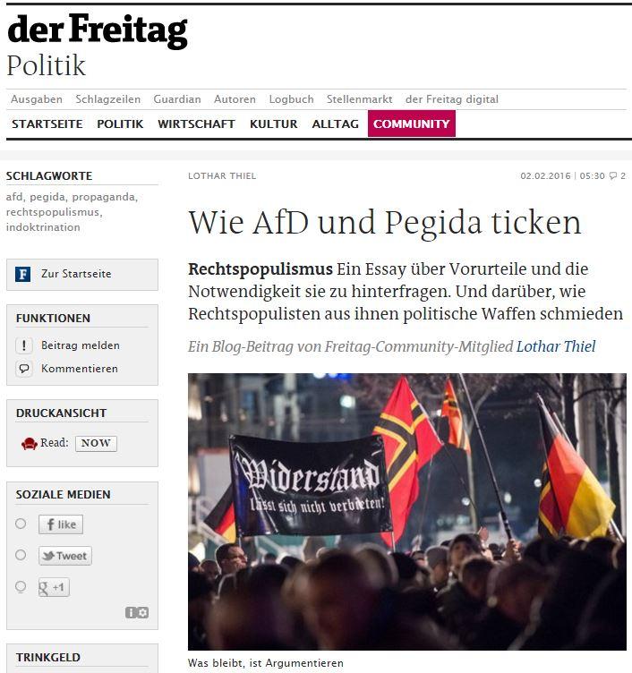 Wie AfD und Pegida ticken