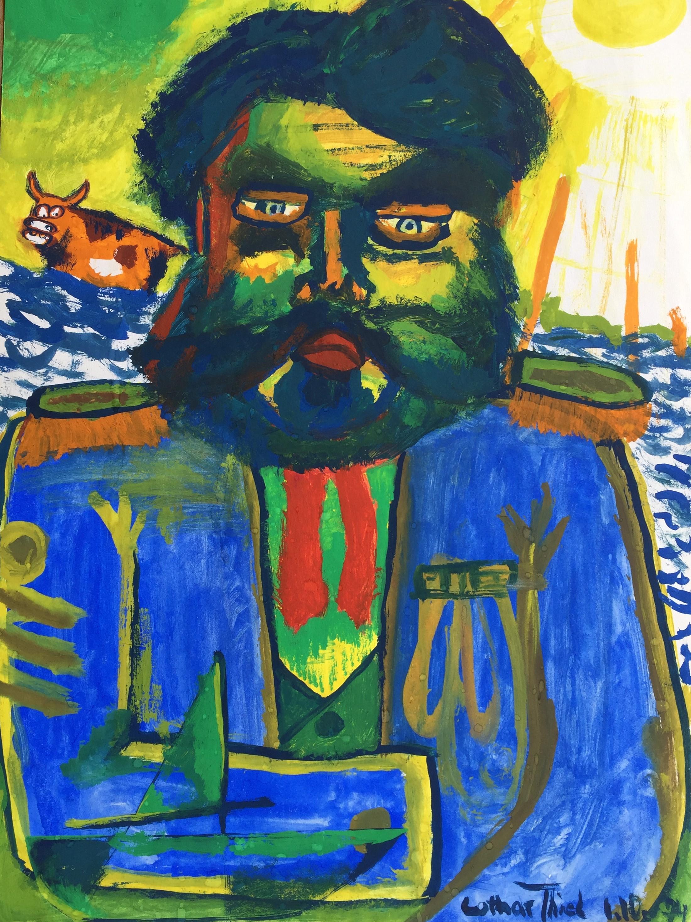 Schwimmende Kuh 1974-10-01