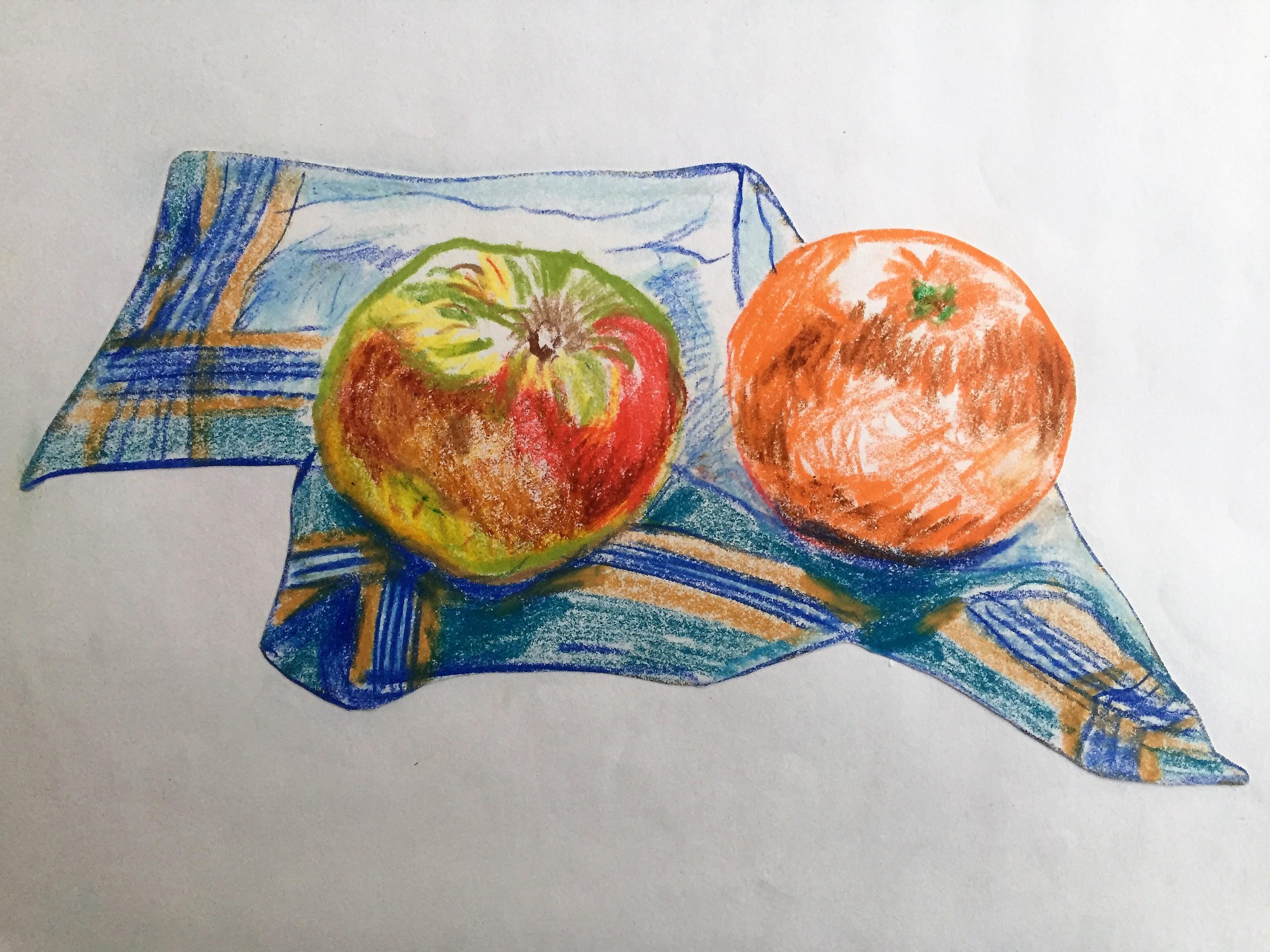 Obst auf Taschentuch 1981-05-01