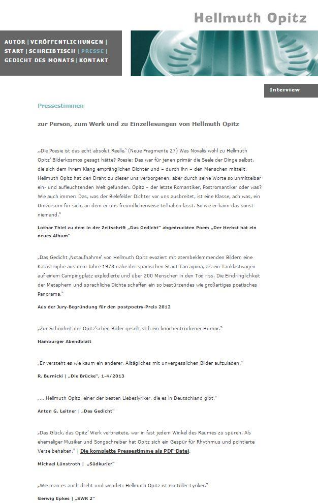 Ein Zitat aus dieser Rezension auf Hellmuth Opitz' Webseite